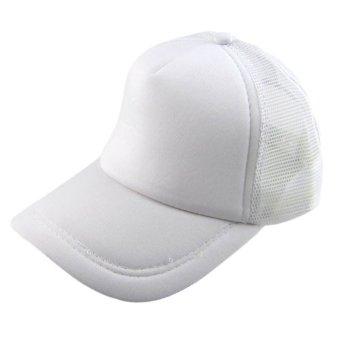 Summer Solid Adult Mesh Baseball Cap White