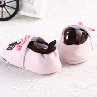 Baby Boys Girls Owl Crib Shoes Warm Soft Sole Toddler Prewalking Shoes 0-18month - Intl