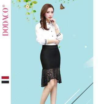 Chân Váy Ngắn Nữ Chân Váy Ren Đuôi Cá Phong Cách Hàn Quốc Thời Trang DODACO DDC1885 DE VNU M - XXL 883 (Đen)