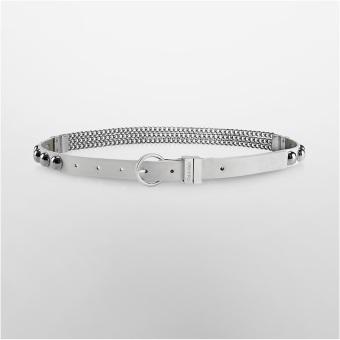 Thắt lưng nữ Calvin Klein kết hợp dây kim loại (Trắng)