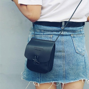 Women Messenger Bags Slim Crossbody Shoulder Bags Handbag Small Body Bags BK - intl