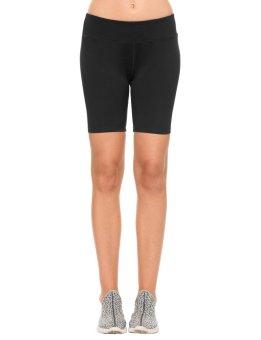 Linemart New Women Fashion Slim Mid-waisted Breathable Fabric Elastic Casual Sports Ygoa Shorts ( Black ) - intl
