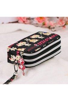 Moonar Women Cat Small Coin and Purse Bag Handbag (Black) - Intl