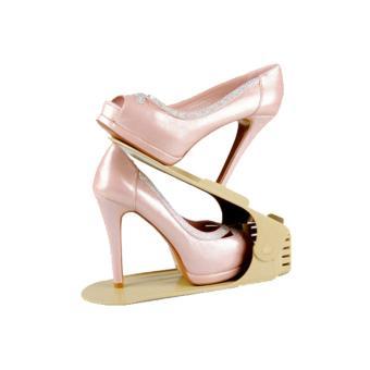 Bộ 5 kệ để giày thông minh điều chỉnh độ cao KG-01-BEP5 (Màu be)