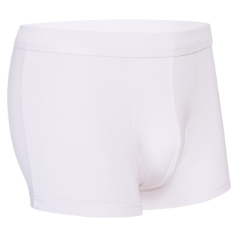 Cyber Men Casual Underpants Solid Short Boxers Underwear White - Intl