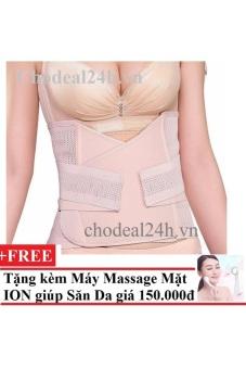 Mua Gen Thun Lưới 2 Lớp Chodeal2h.Vn Cho Mẹ Của Bé Sau Khi Sinh (Da) + Tặng Máy Massage Mặt Ds-039 Bằng Ion (Trắng) giá tốt nhất