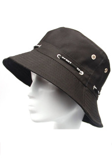 Unisex Adults Canvas Outdoor Activity Sun Protect Hat Black (Intl) - intl