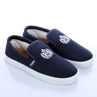 Giày lười thể dục màu xanh tặng vớ