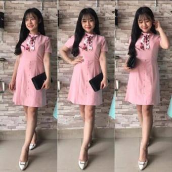 Combo Ba(3) Váy Đầm Suông Nữ Đẹp Tặng Kèm Khăn Quàng Cổ 4LOVE- 3AV125S