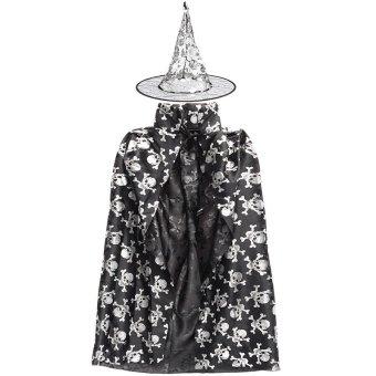 Children Kids Girl Halloween Cloak Witch Dress Fancy Dress Cosplay Party Costume (Silver) NEW - intl