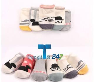 Bộ 10 đôi tất chống trơn cho bé trai L-KID Giá Tốt 247