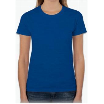 Áo thun nữ trơn cổ tròn màu xanh dương