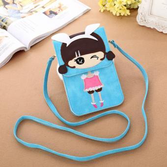 Túi điện thoại cô gái xinh xắn G4 (Blue)