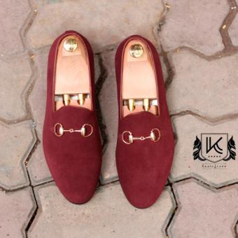 Giày da lộn nam cao cấp Kazin màu nâu đỏ - KZND050