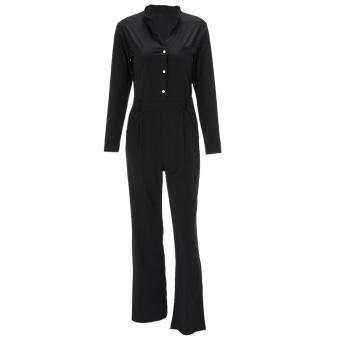 Sexy Women Long Sleeve Playsuit Bodycon Jumpsuit Romper Trousers Pants - intl