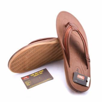 Dép nam Da Thật Cao cấp chính hãng Giày Da Miền Trung VCTD0LZD034N-1 (nâu)