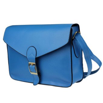 Hot New Girl Women Leather Satchel Shoulder Messenger Bag Handbag Blue