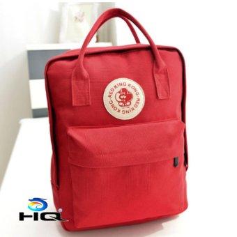 Ba lô canvas thời trang phong cách Hàn Quốc HQ 81TU27 2(đỏ)
