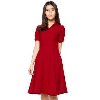 Đầm vintage Nguyễn Phong D02615165-DO (Đỏ)