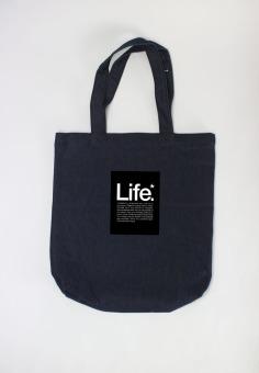 Túi tote nữ Life meaning Cung Cấp Bởi Suvi (Xanh Đen)