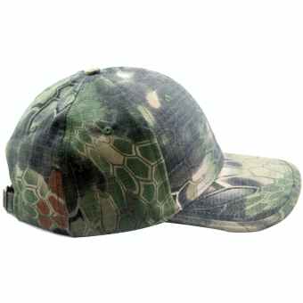 Fashion Snake Skin Style Sport Camouflage Cap Baseball Hat Green - intl
