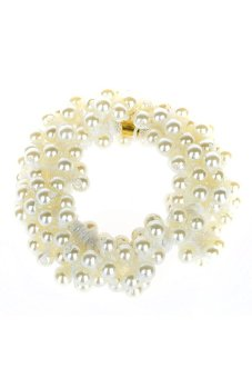 Bluelans Pearls Beads Hair bands (White) (Intl)