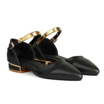 Giày Bệt Nữ Mũi Nhọn Quai Cổ Chân HC1317 (Đen)