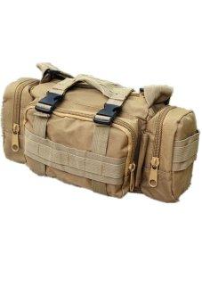 LALANG Tactical Military Camera Bag Shoulder Bag Pouch Multifunction Pockets Mud (Brown) - Intl