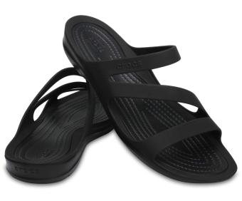 Xăng đan nữ Crocs Swiftwater Sandal W Blk/Blk 203998-060 (Đen)