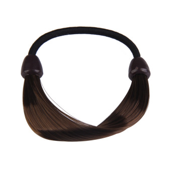 Wig Plaits Elastic Braid Rope Ponytail Hair Hairpiece Band Holder Chic - Intl