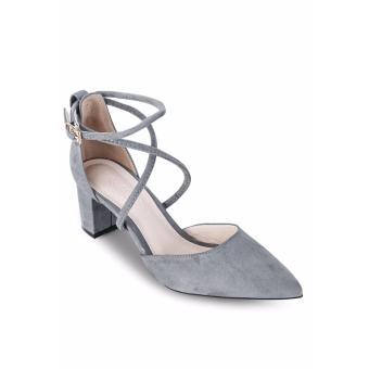 Giày Sandals Cao Gót Lozido L027 (Xám)