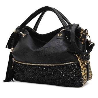 Cyber Women Print Bags One Shoulder Handbag Women's Handbag Tote Bags (Leopard) - Intl