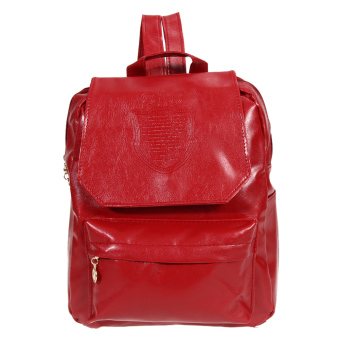 Girls PU Leather Backpack (Red)