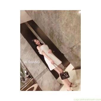 Váy xòe tay lưới Monoco