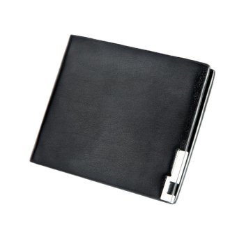 Men Stylish Bifold Business Leather Wallet Card Holder Coin Wallet Purse - intl