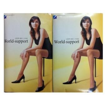 Bộ 2 Quần Tất World Support Hàn Quốc 30d (Đen)