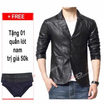 Áo Khoác Vest Da Pg90 + Quần Lót Nam Cotton Vnxk