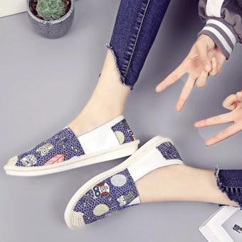 giày lười thời trang bomdo BGLX218 (xanh)