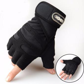 Găng tay hở ngón X-Game đệm lót tay êm thoáng khí, có băng trợ lực cổ tay