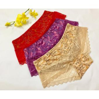 Bộ 9 quần lót nữ cotton phối ren dưới 55kg CPR5529