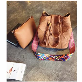 Bộ 01 túi lớn + 01 túi nhỏ dây đeo thời trang (Nâu)