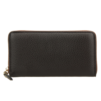 Fashion PU Long Leather Wallet Men Card Holder Clutch Handbag (Brown) - intl