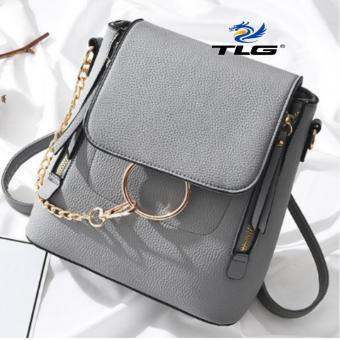 Túi nữ thời trang phong cách Hàn Quốc 2 trong 1 Đồ Da Thành Long TLG 208100 1(xám)