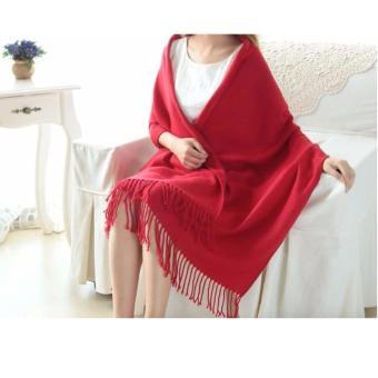 Khăn choàng giữ ấm thời trang đơn sắc (Đỏ)