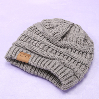 Winter Bubbe Knit Baggy Beanie Overize Hat ki ouchy Cap