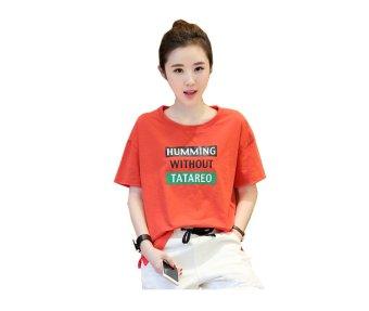 Áo kiểu form rộng humming phong cách (đỏ cam) bd68