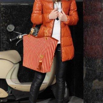 Korean Woman's Messenger Bag PU Leather Change Purse Tote Bags - intl