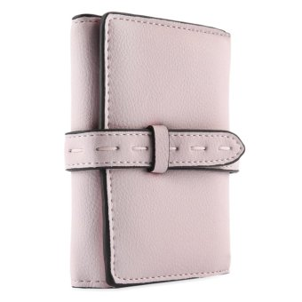 Retro Belt Thread Solid Color Lady Short Cash Card Clutch Wallet - intl