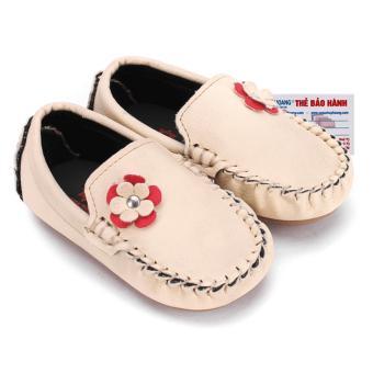 HL7854 - Giày KIDS Nữ Huy Hoàng màu kem phối hoa