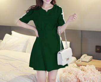 Đầm xòe tay ren TAT251D (màu xanh)
